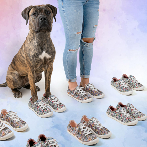 Skechers helps save the lives of shelter dogs and cats in Canada through its popular BOBS from Skechers collection. Featured dog available for adoption is Michelle from Dog Tales in King City, Ontario. (Photo: Business Wire)