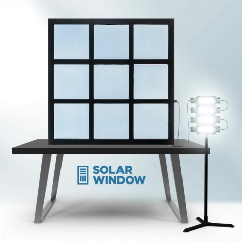 New Video: SolarWindow™ Generates Electricity from Sunlight, Indoor Lighting and Shade (Graphic: SolarWindow)