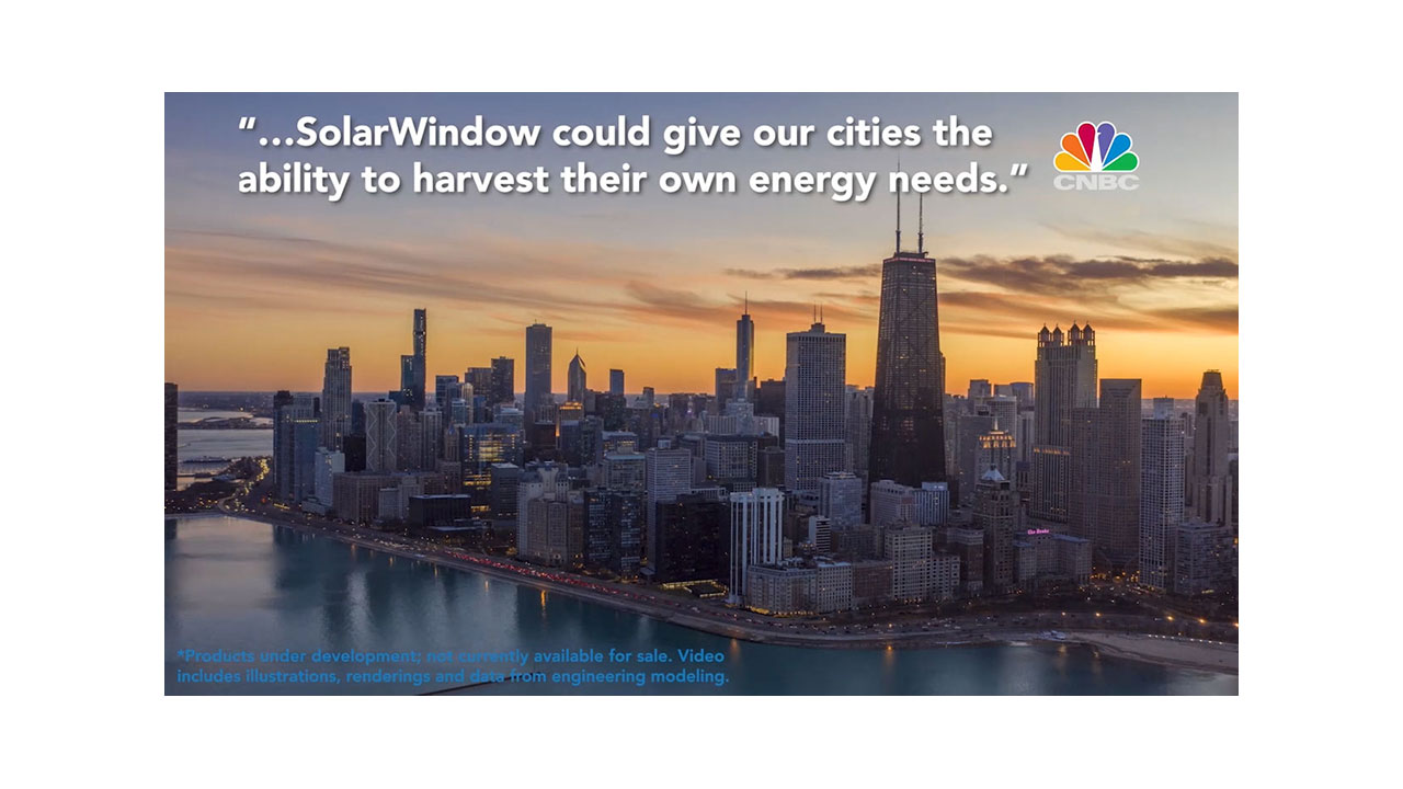 New Video: SolarWindow™ Generates Electricity from Sunlight, Indoor Lighting and Shade
