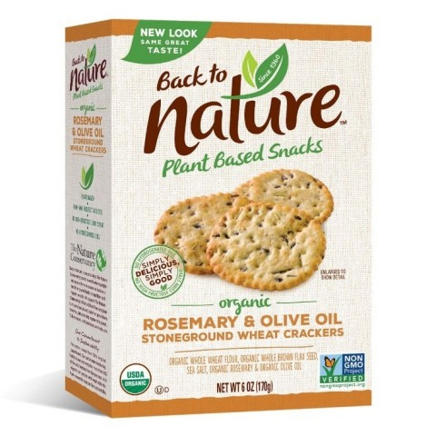 Back to Nature Organic Rosemary & Olive Oil Stoneground Wheat Crackers (Photo: Business Wire)