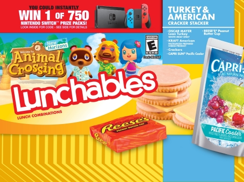 This fall, Nintendo is partnering with LUNCHABLES to make lunch playful with some of its most recognizable video game characters. (Graphic: Business Wire)