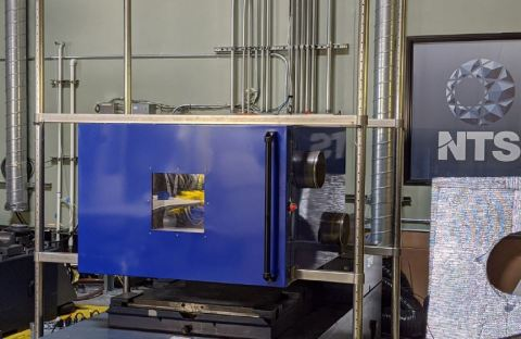 The custom designed temp-over-vibe chamber is located at the NTS Silicon Valley laboratory. (Photo: Business Wire)