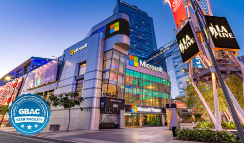 Microsoft Theater at L.A. LIVE now GBAC Certified (Graphic: Business Wire)