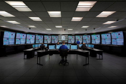 The simulator control room at NuScale Power's small modular reactor design facility in Oregon. Photo courtesy of NuScale