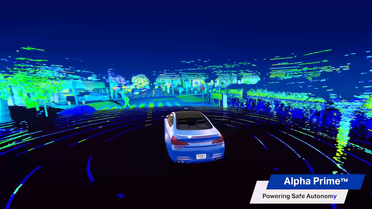 Velodyne Alpha Prime™, utilizing Velodyne's patented surround view technology, provides a world-class combination of field-of-view, range and image quality. (Video: Velodyne Lidar, Inc.)