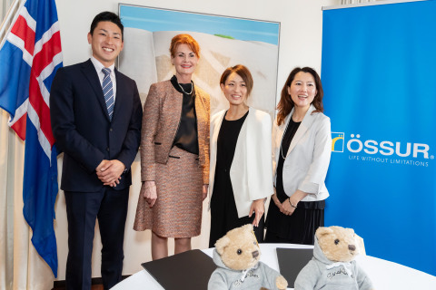 Signing ceremony for Japan-based Team Ossur members at the Icelandic Embassy in Tokyo (Photo: Business Wire)