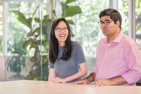 Nicole Hu, Chief Technology Officer, and Ahmad Wani, CEO, One Concern. (Photo: Business Wire)