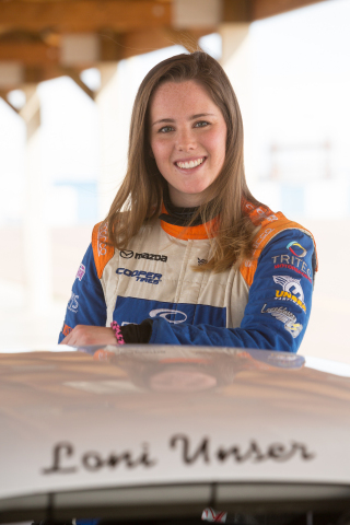 Cooper Tire is teaming up with 22-year-old female race car driver Loni Unser, the latest in the Unser auto racing dynasty, as part of Cooper's effort to educate drivers about tire safety this National Tire Safety Week. (Photo: Business Wire)