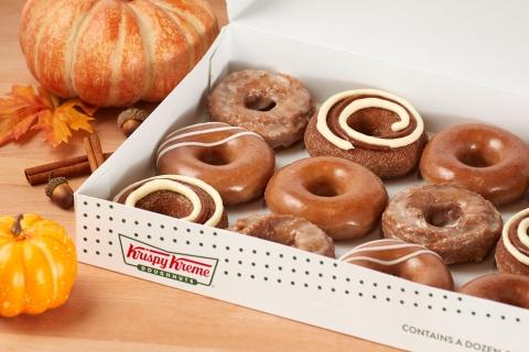 Four delicious doughnuts available through September so fans can enjoy pumpkin spice all season long (Photo: Business Wire)