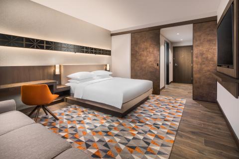 King guestroom inside Hyatt Regency Sofia (Photo: Business Wire)