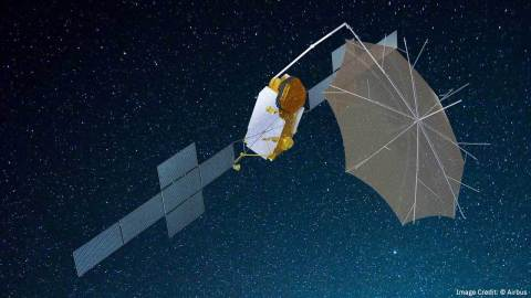 L3Harris Selected to Build Space Antenna for Mobile Telecom Satellite. Image credit: (c) Airbus Defence and Space