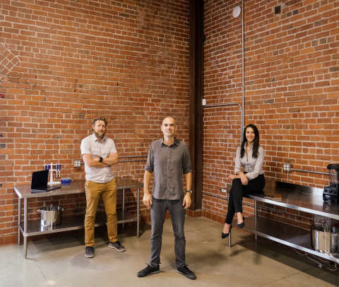 The founding team members of Climax Foods in their Berkeley, CA office space. (Photo: Business Wire)