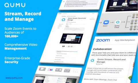 Qumu App Enables Streaming of Zoom Events to Audiences of 100,000+ (Photo: Business Wire).