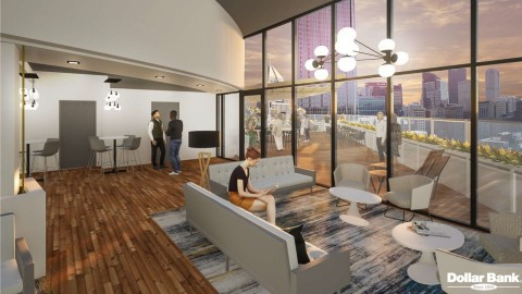 Dollar Bank renderings of new rooftop space at 20 Stanwix Street. (Photo: Business Wire)