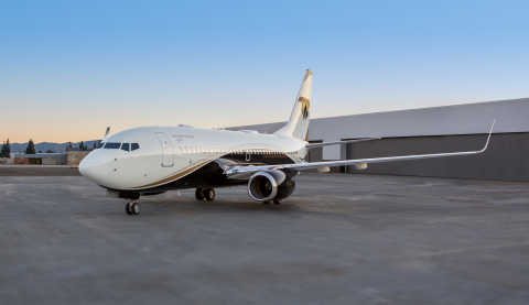 The Boeing Business Jet (BBJ) managed by Silver Air is now available for charter and uniquely without restrictions by the jet's owner (Photo: Business Wire)