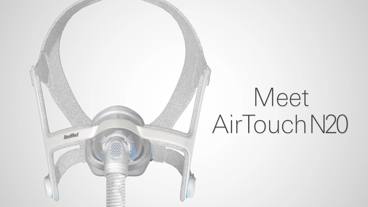 ResMed AirTouch N20, nasal CPAP mask with UltraSoft memory foam cushion