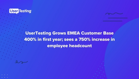 UserTesting EMEA Growth 2020 (Graphic: Business Wire)