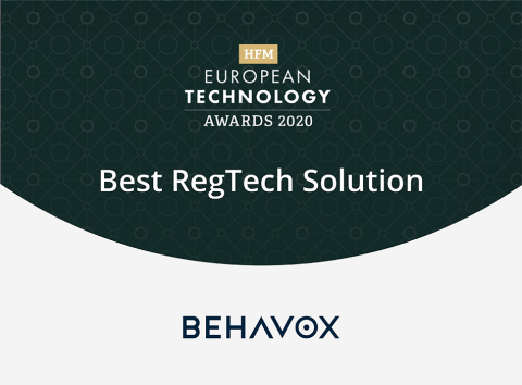 "Hedge Fund Industry Organization Awards Behavox for ""Best RegTech Solution"" (Graphic: Business Wire)"