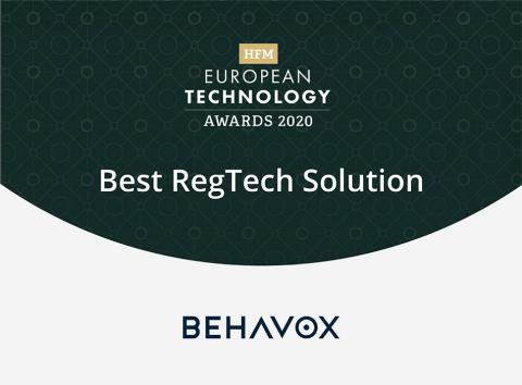 Behavox récompensée « Meilleure solution RegTech » par une organisation du secteur des hedge funds (Graphic: Business Wire)