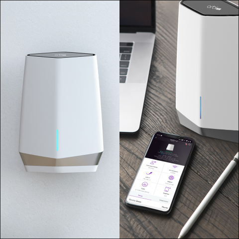Featuring the latest WiFi data security standard, WPA3, along with 4 SSIDs and VLAN support, the Orbi Pro WiFi 6 Mesh System provides a secure network while also isolating connections for separate activities, making it the ideal solution for today's work from home paradigm. (Photo: Business Wire)