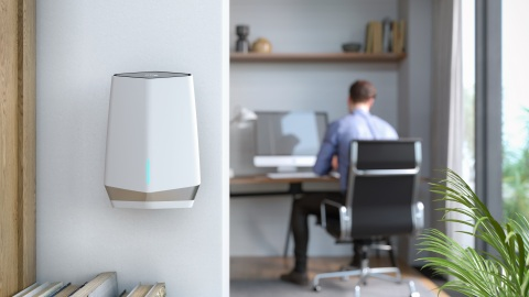 The Orbi Pro WiFi 6 Tri-band Mesh System provides the latest generation of WiFi technology to deliver increased capacity, advanced security and enhanced speed for employees, customers and guests of small businesses and small office environments. (Photo: Business Wire)