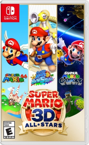 Optimized versions of 3D Mario games Super Mario 64, Super Mario Sunshine and Super Mario Galaxy are coming to Nintendo Switch in one package: Super Mario 3D All-Stars. In addition to having higher resolutions than their original versions, the games have been optimized for a smooth gameplay experience on Nintendo Switch. (Graphic: Business Wire)