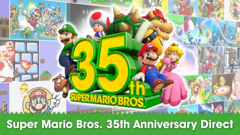 In a new video presentation released today, Nintendo detailed several games, products and in-game events that are all arriving for the 35th anniversary of Super Mario Bros. The full video presentation can be viewed by visiting http://supermario35.com/. (Graphic: Business Wire)