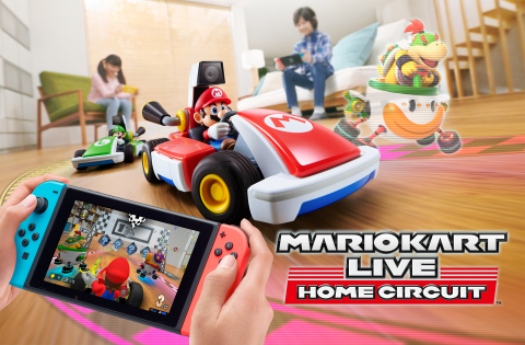 Created in partnership with Velan Studios, Mario Kart Live: Home Circuit brings the fun of the Mario Kart series into the real world by using a Nintendo Switch or Nintendo Switch Lite** system to race against opponents using a physical Kart. (Graphic: Business Wire)