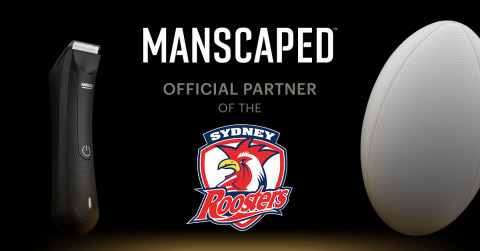 MANSCAPED is excited to announce its first overseas partnership with the Sydney Roosters. (Graphic: Business Wire)