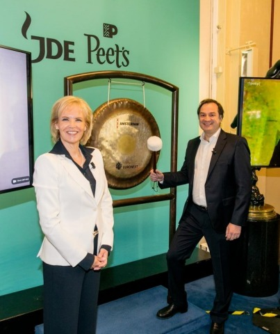 Fabien Simon at the Euronext Amsterdam bell ringing ceremony on 29 May 2020. (Photo: Business Wire)