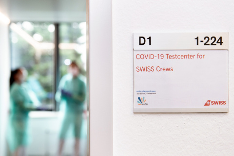 Swiss Airlines COVID-19 Test Center (Photo: Business Wire)