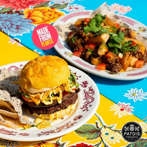 """Patois: Impossible™ """"Pineapple"""" Bun Burger and Cassava Fries Supreme (Photo: Business Wire)"""