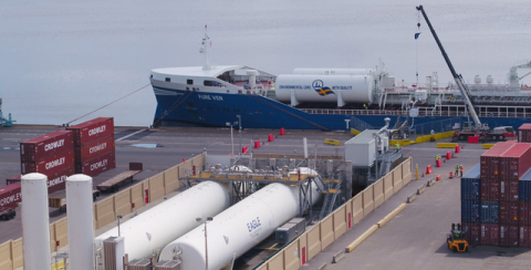 Furetank, Eagle LNG and GAC achieve historic LNG bunkering in the U.S. (Photo: Business Wire