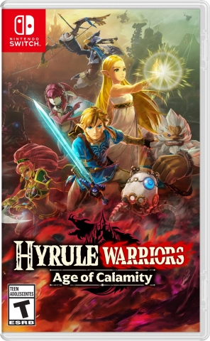 In the Hyrule Warriors: Age of Calamity game, which launches exclusively for Nintendo Switch on Nov. 20, players will be transported to the time before the Great Calamity happened, participating in epic battles against a backdrop of familiar locations in Hyrule before they were destroyed. (Graphic: Business Wire)