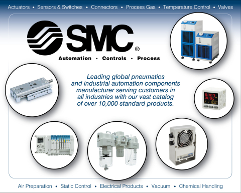 Leading global pneumatics and industrial automation components manufacturer SMC (Graphic: Business Wire)