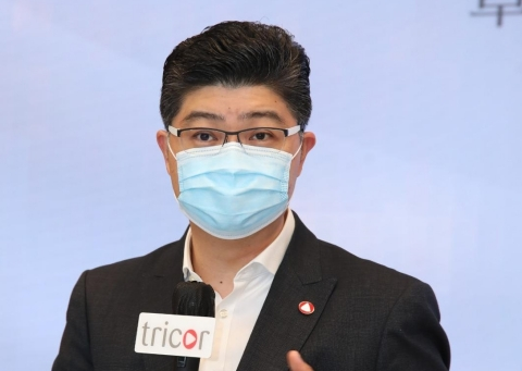 Mr. Lennard Yong, Group CEO of Tricor Group, witnessed the signing ceremony and delivered a speech. (Photo: Business Wire)