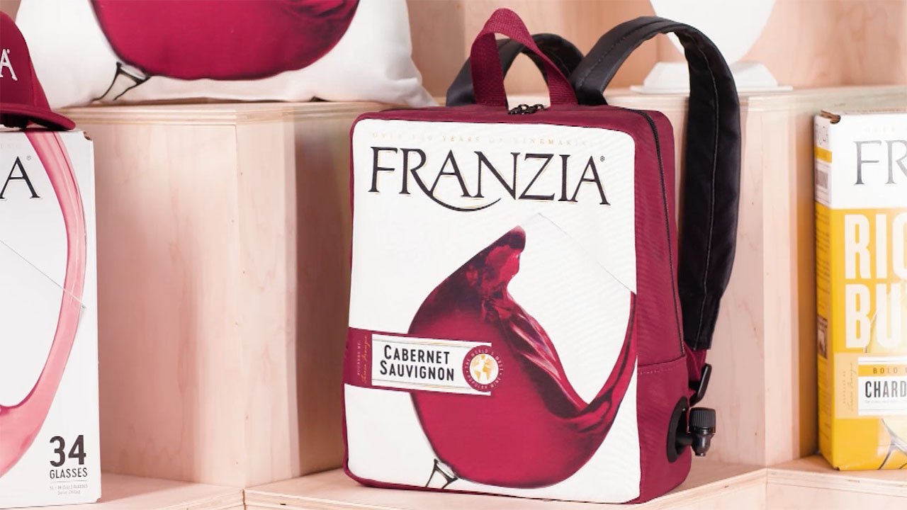 Franzia Wines launches merchandise, so fans can not only drink Franzia, but also wear Franzia.