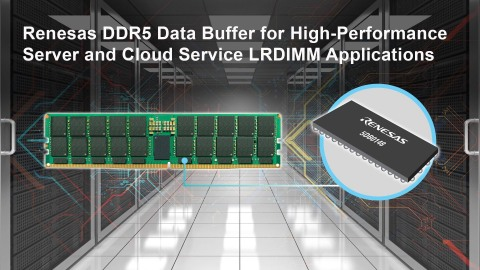 Renesas DDR5 data buffer for high-performance server and cloud service LRDIMM applications (Graphic: Business Wire)