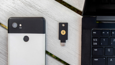 The YubiKey 5C NFC is the world's first security key with both USB-C and near-field communication (NFC). (Photo: Business Wire)