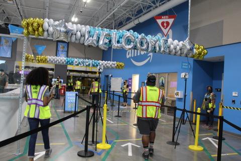 Entrance into fulfillment center where all associates go through a temperature check before entering the building. (Photo: Business Wire)