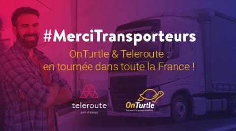OnTurtle & Teleroute: en tournée dans toute la France (Photo: Teleroute & OnTurtle)