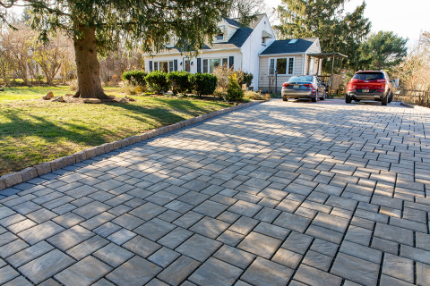 CO2-cured and water-saving Solidia Concrete pavers installed in N.J. (Photo: Business Wire)