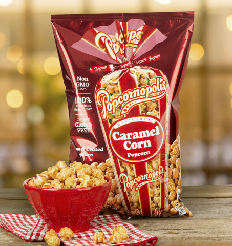 Popcornopolis' Best-Selling Caramel Corn is Available in Bags at Sam's Club Nationwide this September (Photo: Business Wire)