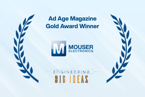 Mouser Electronics is proud to announce that its Engineering Big Ideas video series has received the Gold award for Campaign of the Year in the Business to Business category from Ad Age magazine. (Photo: Business Wire)