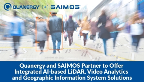 Quanergy and SAIMOS Partner to Offer Integrated AI-based LiDAR, Video Analytics and Geographic Information System Solutions (Graphic: Business Wire)