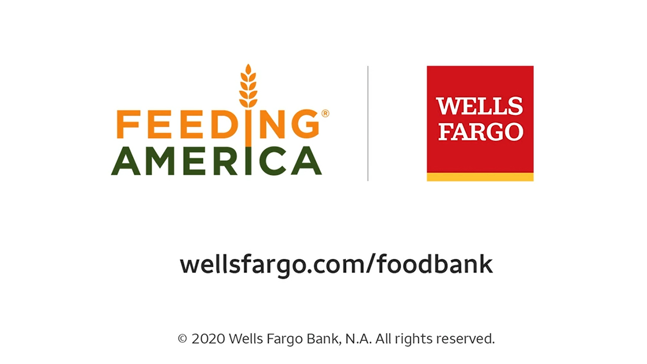 Wells Fargo parking lots become mobile food pantries this summer as the company teams with local food banks to help distribute food during the COVID‑19 pandemic.