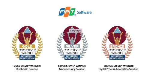 FPT Software's products have won Gold, Silver, and Bronze Stevie awards at the 17th Annual International Business Awards®. (Graphic: Business Wire)