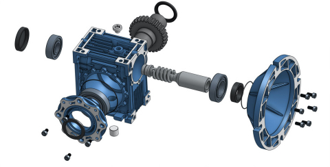 Detailed assembly view of a piece of machinery within Onshape. (Graphic: Business Wire)