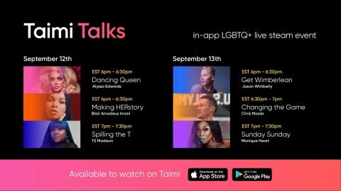 TAIMI Talks Agenda (September 12-13) (Graphic: Business Wire)