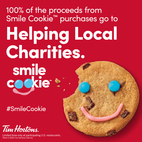 Tim Hortons® Smile Cookie™ Campaign is Back - Supporting over 26 Charities Across the U.S. (Photo: Business Wire)